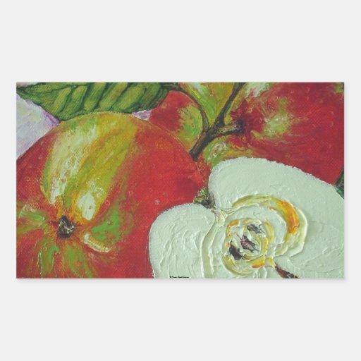 Pegatina rojo de las manzanas de Jonagold