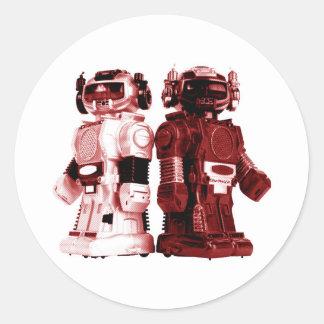 pegatina rojo de los robots