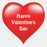 Pegatina rojo del amor del corazón del el día de S