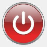 Pegatina rojo del botón de encendido