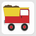 Pegatina rojo del camión volquete del KRW