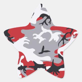 Pegatina rojo del camuflaje