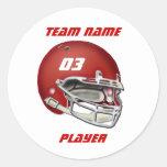 Pegatina rojo del casco de fútbol americano