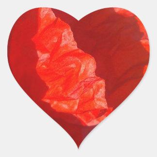 Pegatina rojo del corazón