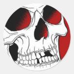 Pegatina rojo del cráneo