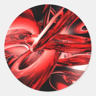 Pegatina rojo del extracto de la radiación gamma