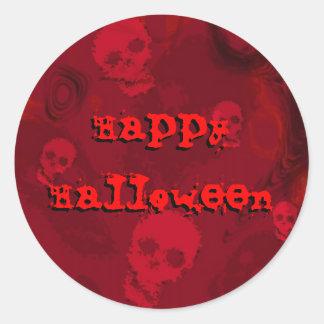 """Pegatina rojo del """"feliz Halloween"""" de los"""