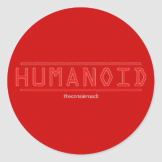 Pegatina rojo del Humanoid