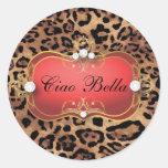 Pegatina rojo del leopardo del Ciao Bella de 311