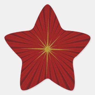 Pegatina rojo del navidad de la explosión de la