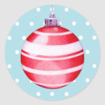 Pegatina rojo del ornamento del navidad