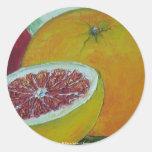 Pegatina rojo del pomelo