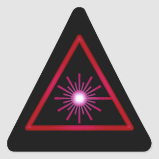 Pegatina rojo del símbolo del laser del resplandor