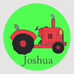 Pegatina rojo del tractor