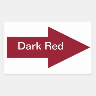 Pegatina rojo oscuro de la muestra