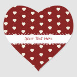 Pegatina rojo y blanco del corazón