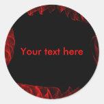 Pegatina rojo y negro