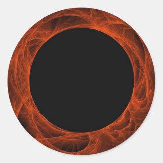 Pegatina rojo y negro de BackgroundRound del