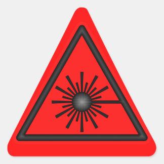 Pegatina rojo y negro del símbolo amonestador de