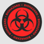 Pegatina rojo y negro del símbolo del Biohazard