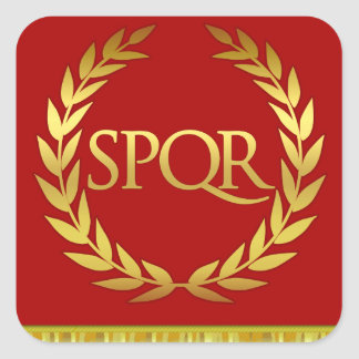Pegatina romano cuadrado de SPQR