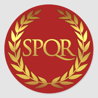 Pegatina romano de SPQR