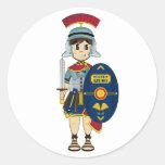 Pegatina romano lindo del soldado