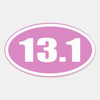 Pegatina rosado 13,1 del maratón del pegatina el |