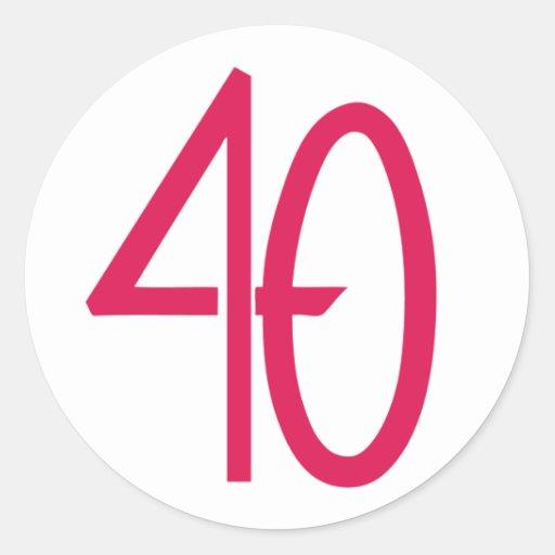 Pegatina rosado 40