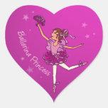 Pegatina rosado cerise de la princesa de