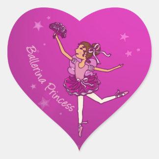 Pegatina rosado cerise de la princesa de Balllerin