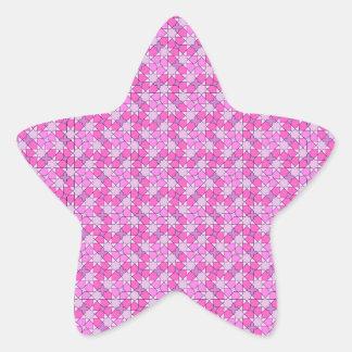 pegatina rosado de la estrella del modelo
