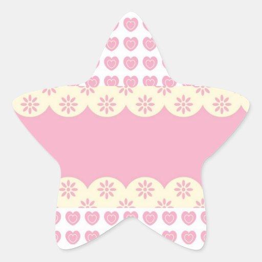 Pegatina rosado de la estrella del ojeteador del