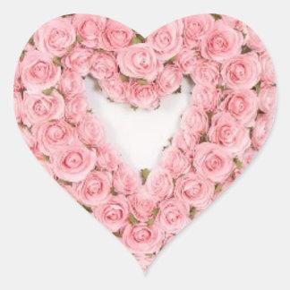 Pegatina rosado de la guirnalda del rosa para