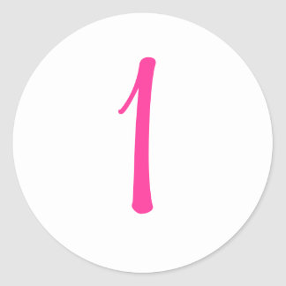 Pegatina rosado de la mariquita con número