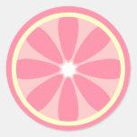 Pegatina rosado de la rebanada del limón
