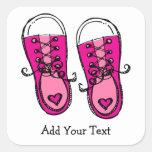 Pegatina rosado de las zapatillas de deporte