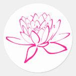 Pegatina rosado de Lotus