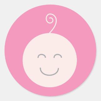 Pegatina rosado del bebé de la sonrisa