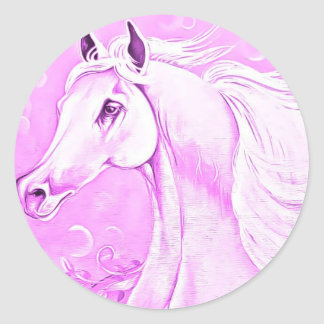 Pegatina rosado del caballo