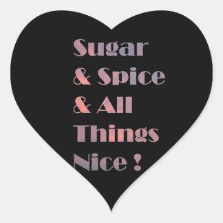 Pegatina rosado del corazón del azúcar y de la esp