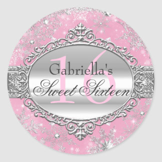 Pegatina rosado del dulce 16 del país de las
