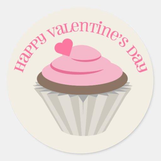 Pegatina rosado del el día de San Valentín de la