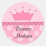 Pegatina rosado del feliz cumpleaños de princesa C