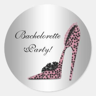 Pegatina rosado del fiesta del zapato del tacón