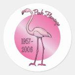 Pegatina rosado del flamenco