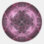 Pegatina rosado del fractal de la locura