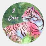 Pegatina rosado del tigre