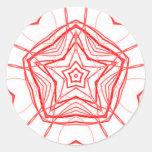 Pegatina sagrado de la etiqueta de la geometría de