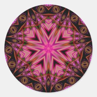 Pegatina sagrado de los círculos 001 de la mandal